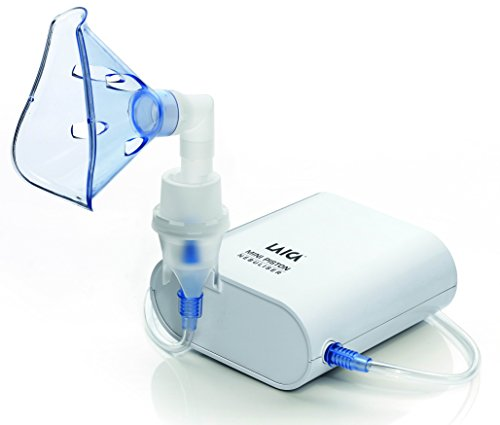 Laica Ne3001 Aerosol Mini a Pistone Portatile per Adulti e Bambini, Bianco