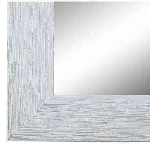 Online Galerie Bingold Wandspiegel Spiegel Badspiegel - Florenz 4,0 - Weiß - 60 x 80 - Außenmaß inkl. Massivholz-Rahmen - viele Größen verfügbar - Modern, Barock, Antik, Vintage