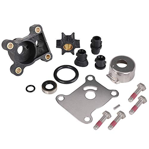 Tutor Auto Impeller Water Pump Repair Kit Compatible with Johnson Evinrude 8-15HP Outboard 1974-up - Replace 394711, 0394711, 18-3327 Water Pump Kit with Housing