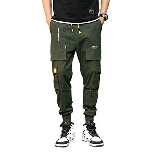 nobranded Pantalon Cargo pour Hommes Pantalon Slim fit Jogging Taille élastique Cordon de Serrage réglable Cheville d'ouverture Pantalon Chino