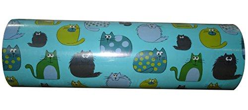 Woerner Geschenkpapier Katzen türkis Rolle 250m x 50cm