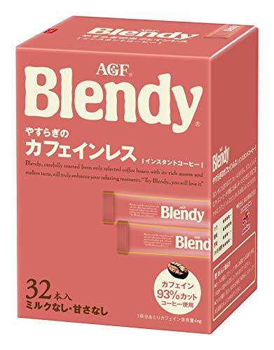 AGF ブレンディ やすらぎのカフェインレス スティック 32本 【 スティックコーヒー 】【 水に溶けるコーヒー 】【 カフェインレスコーヒー 】