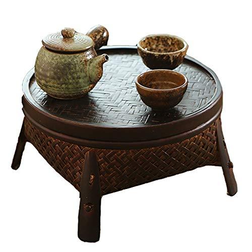 Table Ensembles de et chaises Basse De Tatami Basse avec Couvercle Balcon Baie Vitrée Porte Ménage Bureau D'ordinateur Cadeau (Color : Brown, Size : 15.5 * 30cm)