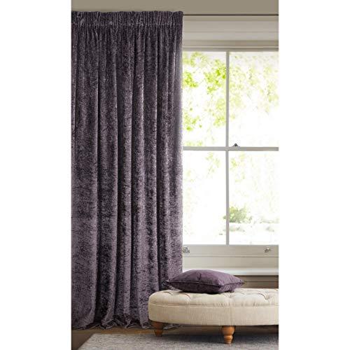 cortinas salon modernas gris y morado