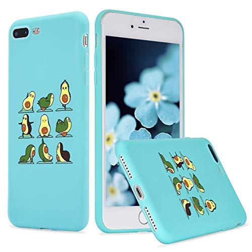 LuGeKe Yoga Avocado Phone Case for iPhoneXR, Cute Fruit Patterned Case Cover,Soft TPU Cover Flexible Ultra Slim Anti-Stratch Bumper Protective Boys Phonecase(Yoga Avocado)