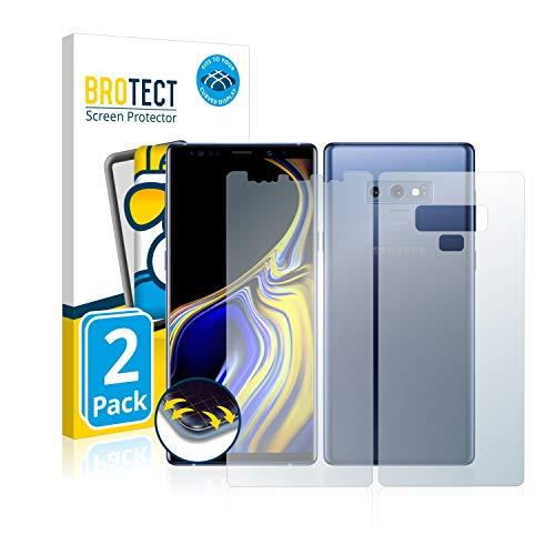 BROTECT Protector Pantalla Completa Compatible con Samsung Galaxy Note 9 (Frontal + Trasera) (2 Unidades) 3D Curvo