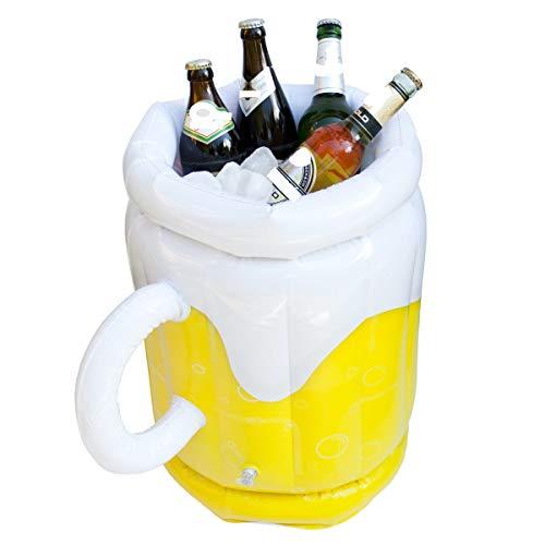 GOODS+GADGETS Aufblasbarer XXL Bierkühler genialer Flaschenkühler Biereimer zum aufblasen beim Grillen, auf Festivals und Gartenpartys