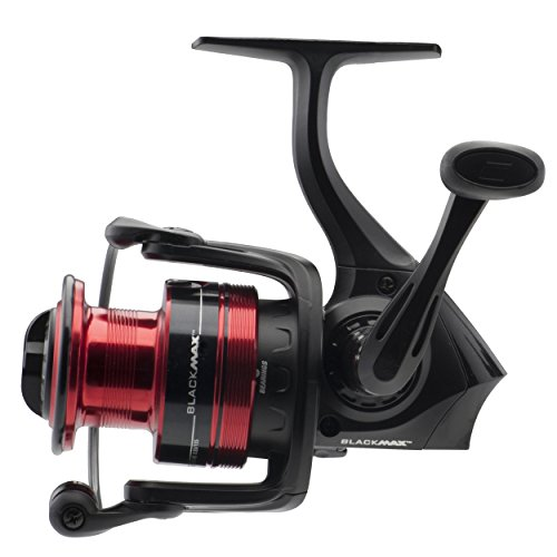 "Abu Garcia Black Max Spinning Reel with 30 5.1:1 Gear Ratio 4 Bearings 29"" Retrieve Rate Ambidextrous Boxed"