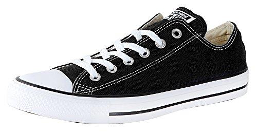 Converse All Star Chuck Taylor Ox, Schwarz, Schwarz - Schwarz / Weiß - Größe: 40 EU