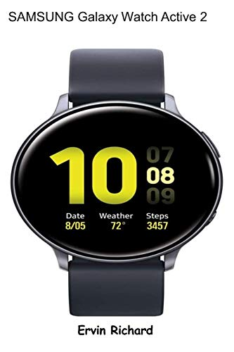 SAMSUNG Galaxy Watch Active 2: (44mm, GPS, Bluetooth) Smart Watch with Advanced Health Monitoring, Fitness Tracking , and Long Lasting Battery, Aqua Black(US Version)