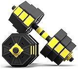 Equipo de la Aptitud 15 kg / 20 kg / 30 kg / 40 kg Dumbbell Inicio Equipo Par de extraíble Ajustable Peso Barra Principiante Set (Tamaño: 30 kg) Masaje Corporal (Size : 20KG)