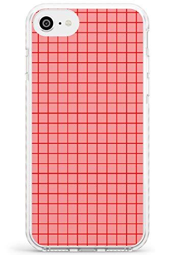 Semplicistico Piccole reti Rosa Impact Cover per iPhone 6 TPU Protettivo Phone Leggero con Geometrico Modello Linee Lined Matematico