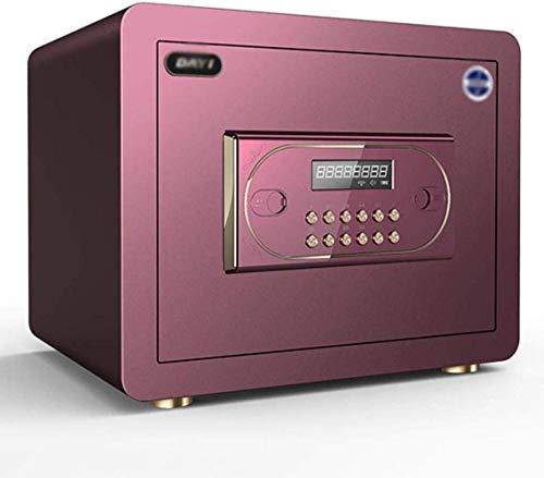 WYJW Cajas Fuertes Hogar Electrónico con Pared de Casa Antirrobo Cajonera de Contraseña Caja de Seguridad 40 * 36 * 31Cm (Color: Morado)