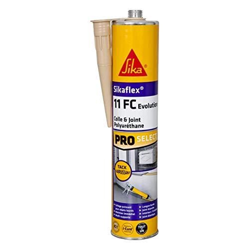 Sikaflex 11 FC Evolution Beige, Mastic-colle multi-usages, haute performance pour joints et collages, mastic intérieur et extérieur, mastic polyuréthane PU, 300ml