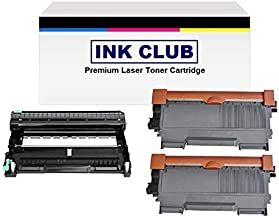 InkClub 3PK (2 TN660 + 1 DR630) New Compatible Black High Yield Toner and Drum Combo Cartridge Set, Replacement for Brother DR-630, TN-660