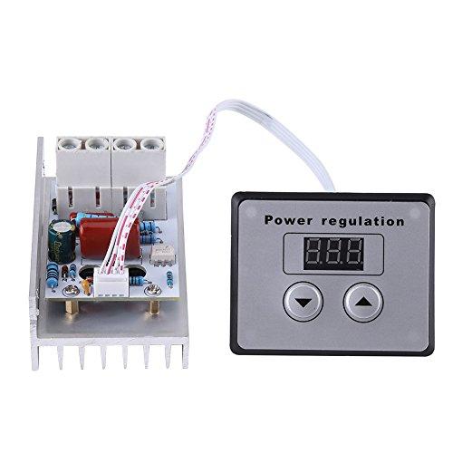 10000W SCR Regolatore di Tensione Digitale Regolatore di Velocità del Pannello del Modulo Dimmer Termostato AC 220V 80A[Classe di efficienza energetica A]