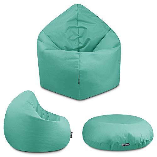 2in1 Sitzsack Bodenkissen Outdoor Sitzsäcke Indoor Beanbag in 32 Farben & 3 Größen wählbar Sitzkissen Kinder Yoga Kissen Erwachsene Schule Kindergarten (Pacific-125 cm)