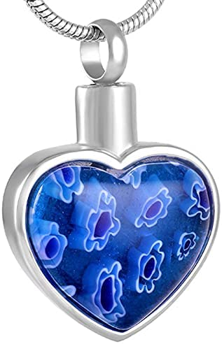 KEMEILIAN HZSP705 Outlet SALE Stainless Steel Cremation Urn Heart outlet Neck Glass