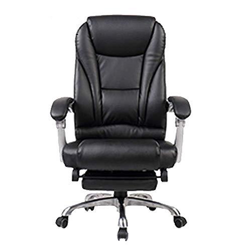YUXIwang Silla de oficina E-Sports Silla de piel sintética otomana giratoria silla de oficina de respaldo alto, muebles de oficina para trabajar juegos (color : negro, tamaño: 70 x 70 x 110 cm)