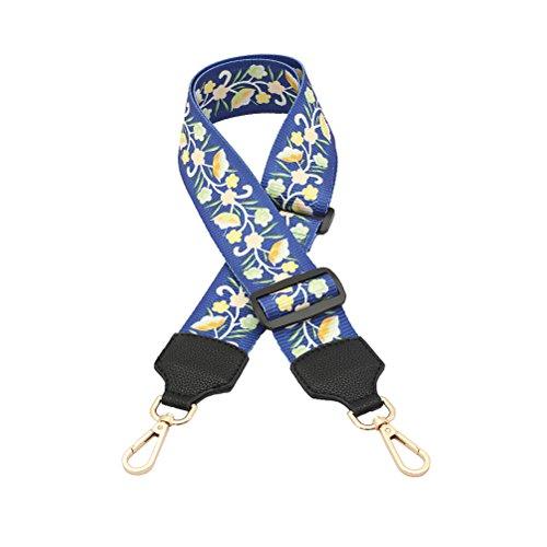 TTD Breite: 5 cm bunte Ersatz-Schulter-Armband für Handtasche Bag 85 cm-128 cm einstellbar GOLDTONE Schnallen-Typ2