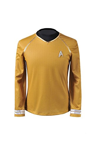Cosparts Star Trek Into Darkness Yellow Captain Mans Cosplay T-shrit (US Size XL)