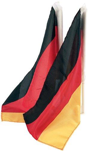 PEARL Deutschlandfahne: Autofahnen-Set Deutschland, 2er-Set (Deutschland Fahne Auto)