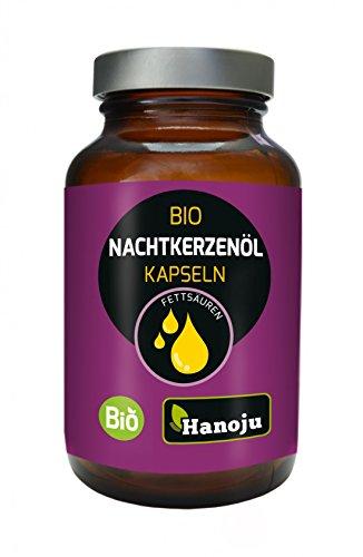 Hanoju Bio Nachtkerzenöl 500mg 90 Kapseln - aus kontrolliert biologischem Anbau