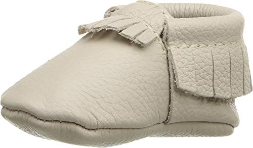 Freshly Picked - Soft Sole Leather Moccasins - Baby Girl Boy Shoes - Size 1 Birch Ivory