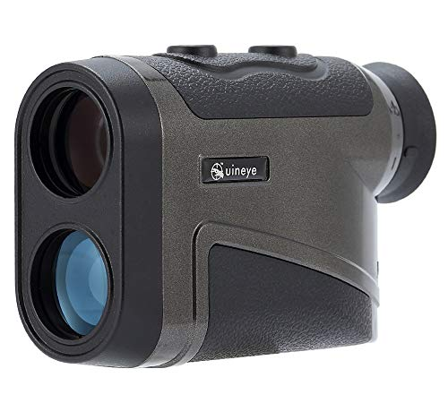 Uineye Laser Rangefinder - Range : 5-1600 Yards, 0.33 Yard Accuracy, with Height, Angle, Horizontal Distance Measurement Perfect for Hunting, Golf, Engineering Survey
