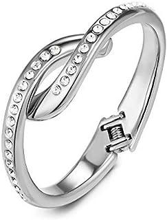 Mestige Women's Annabelle Hinge Bracelet with Swarovski Crystals - MSBR3423