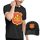 NDNG Coat of Arms of The Chilean Army Washed Baseball-Cap + T-Shirt Combo Set