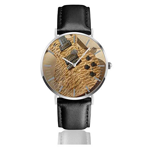Reloj para Hombre Guitarra Vintage en la Correa de Cuero de Madera...