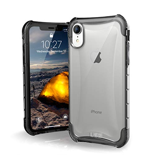 Urban Armor Gear Plyo Hülle für das Apple iPhone XR Handyhülle nach US-Militärstandard (Qi kompatibel, Verstärkte Ecken, Vergrößerte Tasten) - transparent