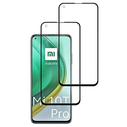 Protector de Pantalla para Xioami Mi 10T Pro 5G, [2 Piezas] Cristal Templado 3D Cobertura Completa Alta Definicion, 9H Dureza, Anti-Arañazos, Sin Burbujas, Vidrio Templado Screen Protector