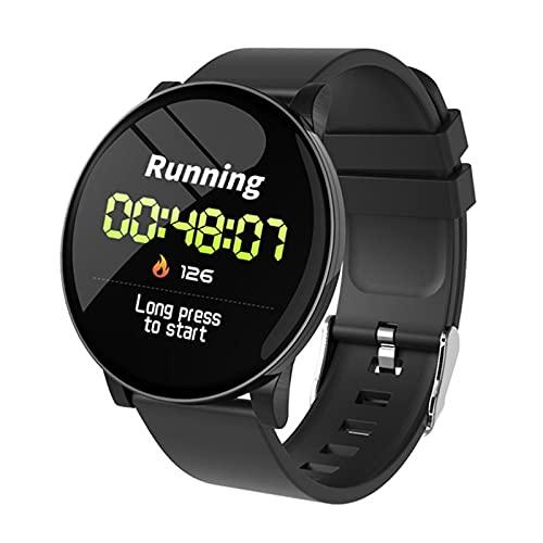 LLTG 2021 Nuevo W8 Smart Watch Mujeres Hombres Ritmo Cardíaco Reloj De Presión Arterial Redondo Impermeable Smartwatch Deportes Salud Smart Pulsera,D