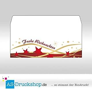 Briefumschlag Weihnachten 25 Stück Schneefall Din Lang
