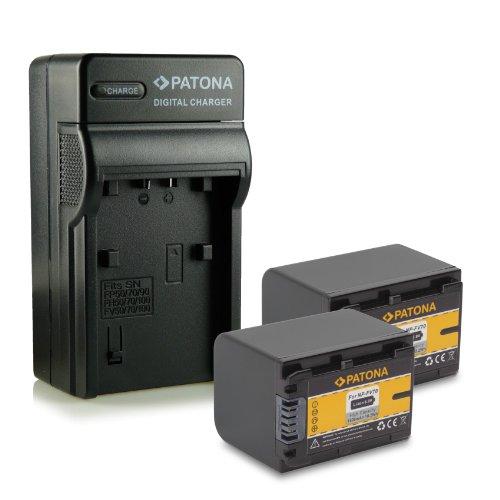 Bundle - 4en1 Cargador + 2x Batería NP-FV70 para Sony Camcorder DCR-DVD110E,...