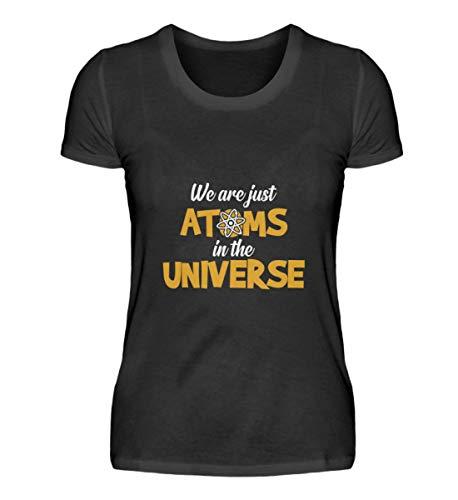 Camiseta para mujer con diseño de fisicoatom, fisica, ciencia y energía, diseño de regalo, frases divertidas. Negro M