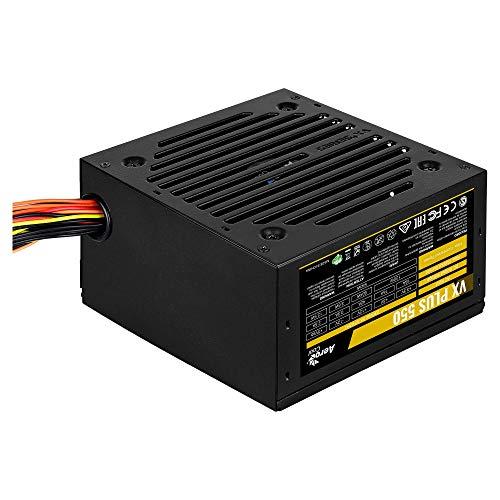 AeroCool Vx Plus 550 - Gaming-Netzteil für PC (550W, ATX, 12V, Lüfter 12cm, Vx-Design)