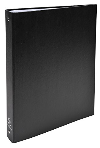 Exacompta 51371E - Carpeta forrada polipropileno 4 anillas, 30 mm, A4, negro, 1 unidad
