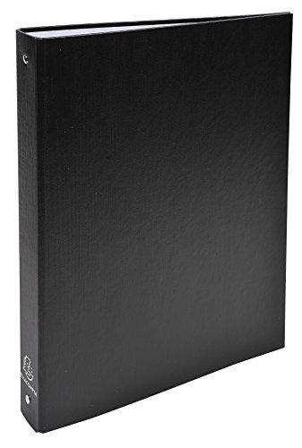 Exacompta 51371E - Carpeta forrada polipropileno 4 anillas, 30 mm, A4, negro, 1 unidad 🔥