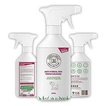 C&G - Spray anti-fongique pour chien - 250 ml - Cadeau parfait - Déguisement des chiens - Désodorisant - Cologne - Anti fongique - Orange camomille - Désodorisant - Désodorisant - Désodorisant