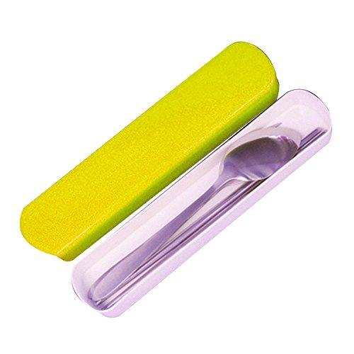 daycount caja 3en 1–Juego de acero inoxidable Vajilla Cubiertos de viaje portátil con palillos, cuchara, tenedor, viaje senderismo Camping escuela almuerzo utensilios.