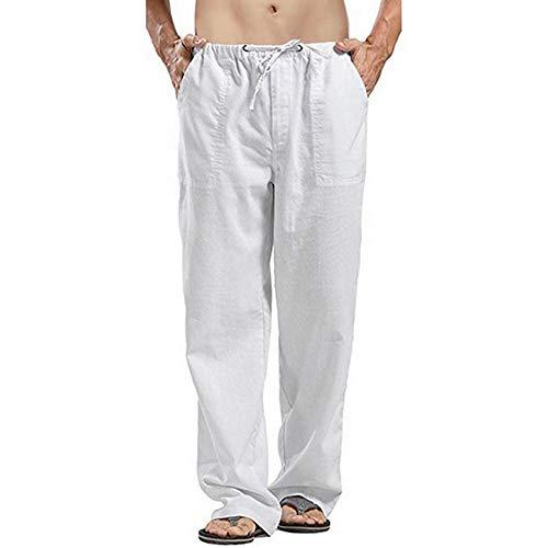 Pantalones Anchos De Lino para Hombre De Gran TamañO 5XL Pantalones De Estilo Coreano SúPer Grande De Lino Street Shooting 1 Ropa De Hombre Casual De Primavera Y Verano para Hombre