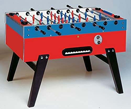 Bandito TischFußball  Master-Cup  mit Münzeinwurf (blau   Schwarz  rot, Teleskopstangen (SA))