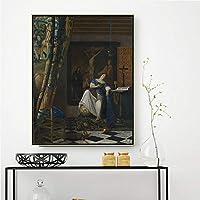 ヨハネスフェルメール《信仰の寓話》 ﹣Diyダイヤモンドペインティング﹣フルダイヤモンドペインティングクロスステッチホームリビングルームの壁の装飾