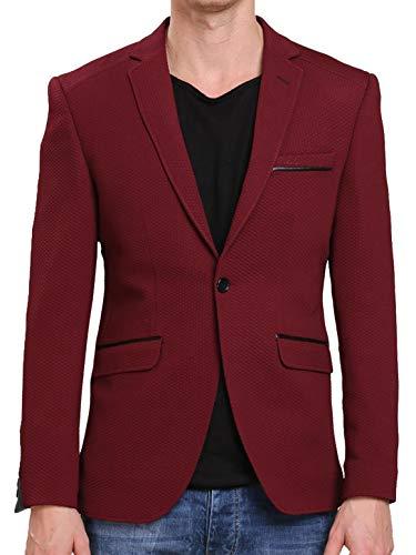 Redbridge Herren Sakko Blazer Anzugssakko Business Casual Leather Line Freizeit Jacke