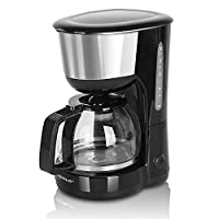 aigostar chocolate 30hik - macchina per caffe' 10 tazze, macchina caffè americano 1000 watts, caffettiera, firltro riutilizzabile, capacità 1.25l, fba assente, colore nero, design esclusivo
