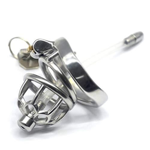 ZZDD FlExyhuy Herren Stàinlēl Chàstíty Lock Men Kurzes Pflaumen-Design Exquisit mit Anti-Schlaufe, praktische wasserdichte Sonnenbrille (Größe : L)
