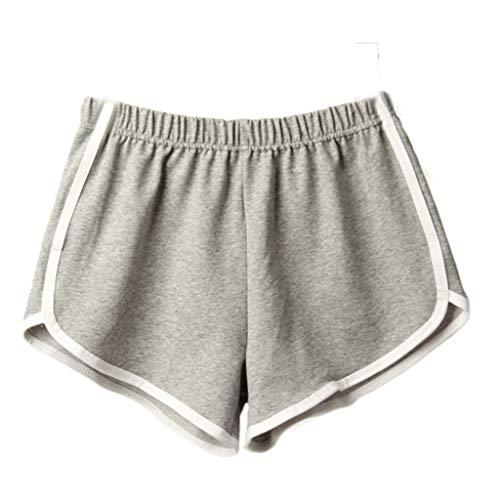 YEBIRAL Shorts für Damen Teenager Mädchen Sommer Kurz Hose Sporthose Frauen Elastische Taille Stoffhose Schlafhose Sport Jogging Yoga Shorts Hose mit Farbig Abgesetzen Rändern